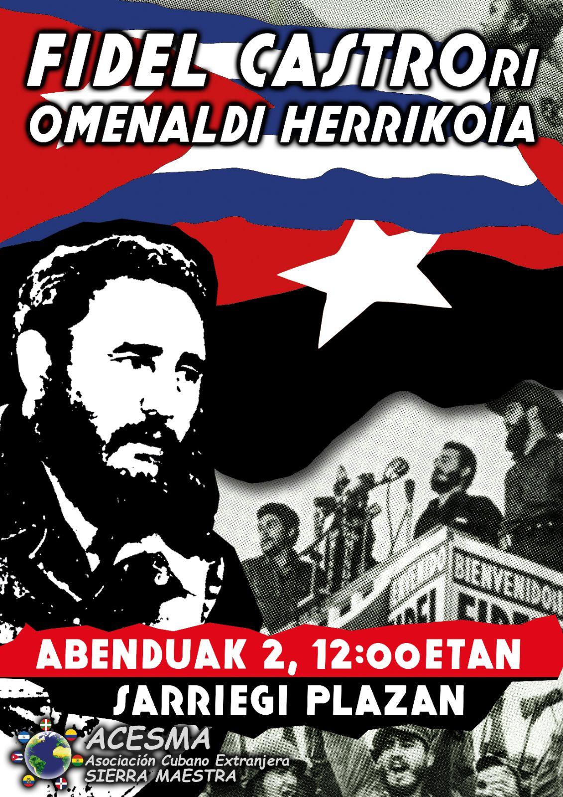 Fidel castrori omenaldi herrikoia sarriegi plaza donostia for Cerrajeros donostia 24 horas