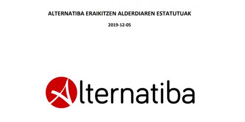 Alternatibaren Eraikitzen. Estatutu aldatuak 2019-12-05