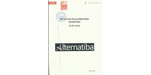 Alternatiba Eraikitzen. Estatutos actualizados 2016